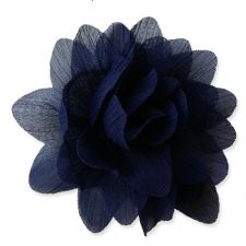 7cm Lily NAVY BLUE  Fabric Flower Applique